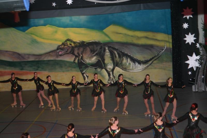 Doek 22 - woestijn met Dino